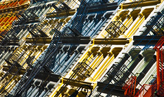New York Fire Escapes (Paul in Leeds) Tags: new york usa apple america fire us big iron flat manhattan sony soho icon alpha escapes a900