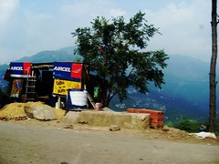 Shack on a cliff (carine_whySOsrs) Tags: road trees summer india holiday mountains love strange car landscape photography photo shimla interesting scary dangerous asia peace phone live bricks peaceful hills dust dirttrack actionshot