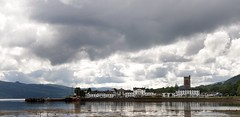 Loch Fyne and Inverary,Scotland (Dragos Cosmin- Getty Images Artist) Tags: old mist lake plant seaweed west reflection building beach home nature water weather fog landscape mirror coast scotland highlands sand scenery quiet village waterfront flat cloudy small scottish bank overcast calm historic coastal rainy shore jail stony loch residence quaint dull fyne inverary dwelling abigfave