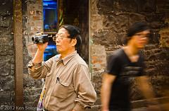 Capturing Melbourne. (kensol72) Tags: life street camera city people man video movement nikon chinatown australia melbourne victoria nikkor dx 18105mm d5100