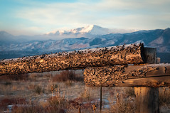 Happy New Year Colorado! (iceman9294) Tags: morning winter mountain snow rural fence pikespeak newyearsday