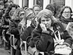 Commuters (Fernando_PC) Tags: street woman men love portugal station train underground blackwhite couple flickr humorous close lisbon candid low streetphotography seating busstation x10 streetphotographer 500px juststreet fujifilmx10 fernandopc
