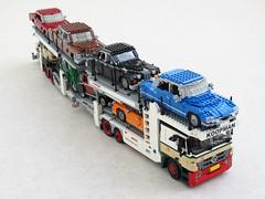 Mercedes Actros car transporter (4) (Mad physicist) Tags: truck mercedes lego metago cartransporter actros kassbohrer