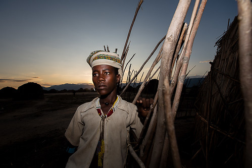 portrait of a boy tribe erbore in the village