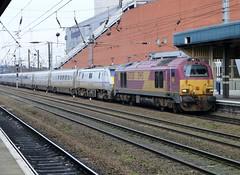 East Coast / EWS 91120 / 67030.  1A31 13.05 Leeds - Kings X.  Doncaster.  6th January 2013. (Ajax46.) Tags: eastcoast doncaster ews 91120 67030 6thjanuary2013 1a311305leedskingscross divertedviahambleton