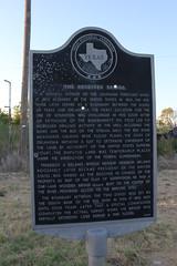 The Receiver Bridge, Clara, Texas Historical Marker (TexasExplorer98) Tags: clara sunset rural texas country historic texashistoricalmarker burkburnett wichitacounty
