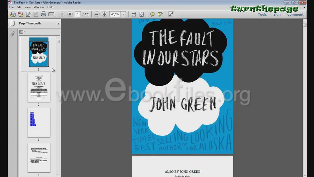 the fault in our stars free epub ebook