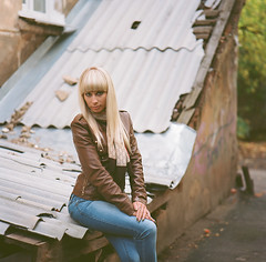 Marina (KirillSokolov) Tags: portrait 6x6 film girl analog russia 66 bronica blond mf 100  ektar koda   sqai 8028 15035  zenzanon porusski