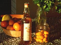 Kumquat Liqueur (Shahrazad_84) Tags: kitchen bottle lemon mandarin