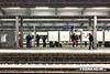 014 Trainstation (Frank Heim) Tags: train essen waiting zug hauptbahnhof trainstation bahn hbf beton warten