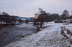 Morning at Chatsworth (jim-green777) Tags: longexposure winter snow water sunrise river nationalpark nikon derbyshire peakdistrict derby chatsworthhouse timedexposure d300 nd110