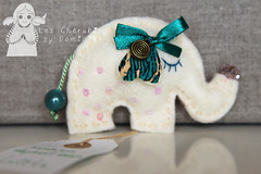 Elephant felt brooch Lolita (Les Chérubins) Tags: elephant cute beautiful pin handmade unique brooch felt lovely