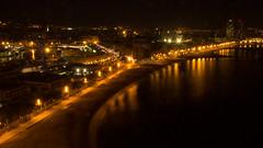 Barceloneta Beach At Night (pintofstuff) Tags: barcelona skyline night canon spain wideangle catalonia hdr