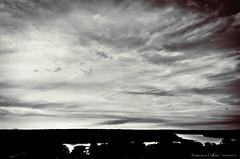 A silver late afternoon (fcribari) Tags: brazil sky blackandwhite bw water rio gua brasil clouds river landscape nikon pb paisagem cu joopessoa nuvens pretoebranco paraba splittoning blackwhitephotos d7000 darktable