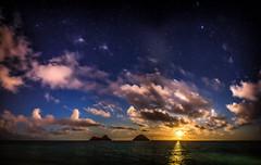 moonrise (tmo-photo) Tags: ocean travel summer nature night stars outdoors hawaii islands glow fav20 moonrise fav30 milkyway mokes fav10 fav40 tmophoto 2012blog
