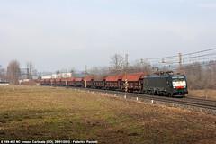 Casalpusterlengo in nero (Elmeon) Tags: train nc merci railway zug bahn treno 402 carri dbs ferrovia chiasso rfi carimate casalpusterlengo e189 nordcargo