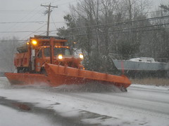 IMG_8565 (sixty8panther) Tags: road winter orange usa snow storm sailboat truck grey boat gray january newhampshire dumptruck nh international mammoth huge plow snowfall blizzard plowing pelham safetyorange