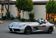 Mercedes SLR Stirling Moss (Countach fan) Tags: california slr car canon silver mercedes fast convertible exotic german mclaren carmel t3 dslr rare supercar v8 supercharged roadster lightroom fastcar exoticcar tuned stirlingmoss