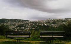 Juntos disfrutando del paisaje… (Luis Obando Photo) Tags: parque verde azul quito ecuador madera plantas coco nubes fotografia casas uio solitario sillas ec cuidad itchimbia liso montaas