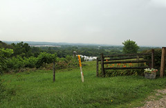 Landscape  Union Township, Licking County, Ohio (Pythaglio) Tags: landscape scenic valley pleasant view panorama vista fields farms fence wire split rail trees hills mountains plateau allegheny foothills piedmont silo forest rain union township licking county ohio james road