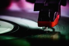 you spin me round (Morag.) Tags: record recordplayer vinyl colour color turntable needle nikon d3300 nikkor dof depthodfield
