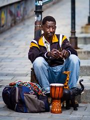 Art seller (Denis Vesely) Tags: seller street denisvesely bratislava african black