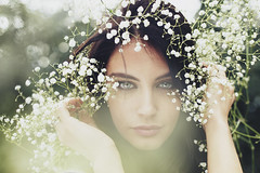 Blossom (Anastasia Vervueren) Tags: photography portrait flowers green eyes flair nature aurelaskandaj