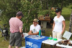 Point Duty Display @ Beauvais Lake (Oldman Watershed) Tags: education outreach albertaparks provincialparks pointduty owc family youth beauvaislakeprovincialpark robtaylor outreachassistant sofieforsstrom