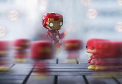 Iron Man vs. Flash (seango) Tags: ironman flash tonystark barryallen theflash mcu marvel comics dc superhero superheroes avengers jla justiceleague bvs dawn justice funko pop vinyl figures figure toy toyphotography seango nikon d600 85mm f18 prime lens marvelvsdc comicbattles funkopop