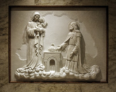 St Stephen of Hungary (Lawrence OP) Tags: basilica national shrine immaculateconception washingtondc hungary ststephen king crown blessedvirginmary ourlady basrelief marble