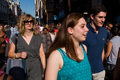 Oxford Circus (Gary Kinsman) Tags: london w1 westend oxfordstreet oxfordcircus candid streetphotography streetlife light crowd shopping consumerism lateafternoon bright 2016 shades sunglasses fujix100t fujifilmx100t