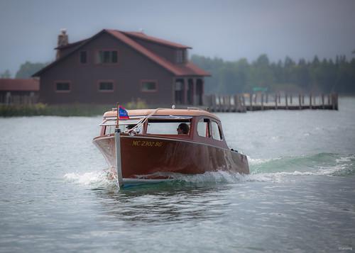 lescheneaux woodenboat chriscraft hessel greatlakes michigan