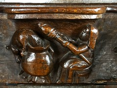 Fairford, Gloucestershire (Sheepdog Rex) Tags: misericords stmaryschurch fairford dogs