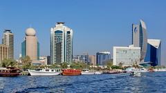 Dubai Creek 2 (gerard eder) Tags: world travel reise viajes asia middleeast uae unitedarabemirates vae dubai creek dubaicreek skyline boats boote barcos dhau architecture architektur arquitectura