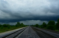 The Wall Cloud (Theresa*) Tags: unionpacificrailroad tracks stormy clouds wallcloud geneva illinois nikond7100 brundgeroad crossing