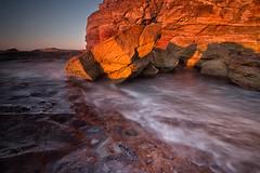 Golden (RoosterMan64) Tags: australia monavale rockshelf rocks seascape sunrise leefilters longexposure sydney landscape water waterflow