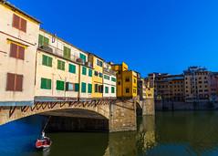 Ponte Vecchio (bilgeaydinsoy) Tags: boat river bridge canon wide angle historic samyang waterman italy florence 6d ponte vecchio arno