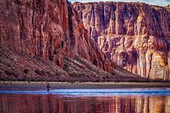 Arizona Angling (CEBImagery.com) Tags: angler arizona canyon cliffs colorado desert fisherman fishing fly glen landscape page reflection river rocks water