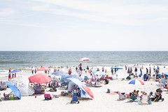 (gwoolston) Tags: ocean jerseyshore stoneharbor umbrellas lifeguards swimming sand vacation