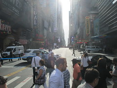 Suitcase Bomb Scare on 42nd Street 2016 NYC 5645 (Brechtbug) Tags: suitcase bomb scare 42nd street west st between 7th 8th avenues midtown manhattan police descended area following reports suspicious package which turned out be small rolling roped off front mcdonalds about 845 am while they investigated nyc 2016 new york city 09212016 false alarm fake bombs