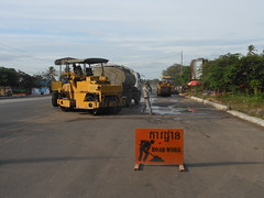 Highway construction between Kep and Kampot Cambodia (rodeochiangmai) Tags: heavyequipment machinery cambodia construction constructionequipment
