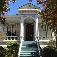 The Montealegre House (Melinda Stuart) Tags: victorian italianate montealegre historic house baha preservation preserved ca porch steps entry pediment railings doublewindows pairs symmetrical