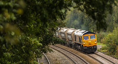 GBRf Class 59/0 no 59003 passes Clay Cross on 27-09-2016 with the Tinsley to Bardon Hill stone empties. (kevaruka) Tags: clay cross derbyshire class 56 20 59 colas rail freight direct services drs gbrf locomotive sigh lightroom autumn 2016 england english electric colour colours september yellow orange blue trains railfreight railway transport outdoor countryside flickr front page thephotographyblog ilobsterit heritage historic history canon eos 5d mk3 70200 f28 is mk2 5d3 5diii telephoto tupton boobs milf sexy wife 56087 20308 20312 railroad vehicle train 59003