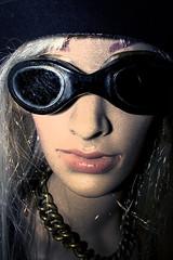 Portrait 357 (vernhagl) Tags: mannequin portrait steampunk face woman hat manipulation grotesque
