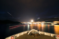 Dubrovnik (Curtis Gregory Perry) Tags: dubrovnik croatia night longexposure dalmatia water reflection movement motion boat ship cruise bow nikon d800e