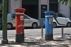 Lisbon Portugal (picrama) Tags: post box red blue lisbon portugal