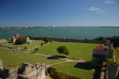 The View over St. Mary's to Portsmouth (CoasterMadMatt) Tags: portchestercastle2016 portchestercastle portchester castle keep portusadurni portus adurni romanfort roman fort view views viewpoint bay naturalharbour harbour sea ocean stmaryschurchporchester stmaryschurch saintmaryschurch marys church porchesterchurch englishchurches portsmouth spinnakertower churches religion religious christianity ruin ruins medievalcastle fortress englishcastles castles history englishheritage heritage property hampshire hamps southeastengland england britain greatbritain gb unitedkingdom uk july2016 summer2016 july summer 2016 coastermadmattphotography coastermadmatt photos photography nikond3200