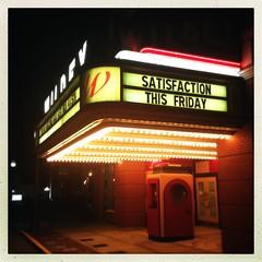 Promise? (plasticfootball) Tags: satisfaction wildey theater theatre marquee hipstamatic foodsetting edwardsville illinois