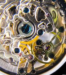 Ressort spiral et balancier (vostok 91) Tags: vostok91 fujix20 fujifilm macromondays thme handle with care montre orlogerie
