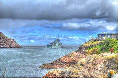 HMCS Fredericton Headed for home (Ross A Craig) Tags: stjohnsnewfoundland canadian navy united states hmcs fredericton athabaskan signal hill